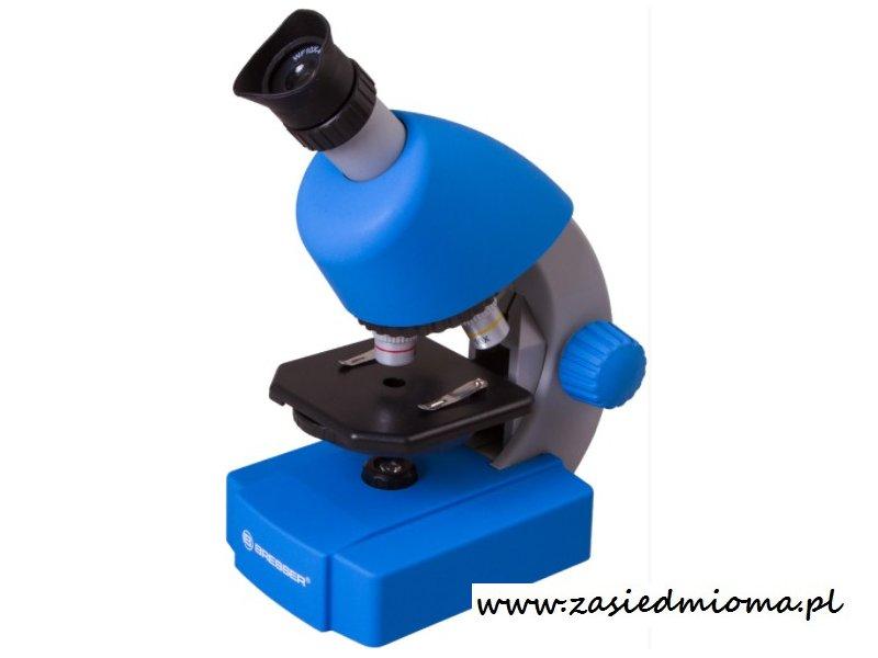 Mikroskop bresser junior 40x 640x niebieski wyposażenie
