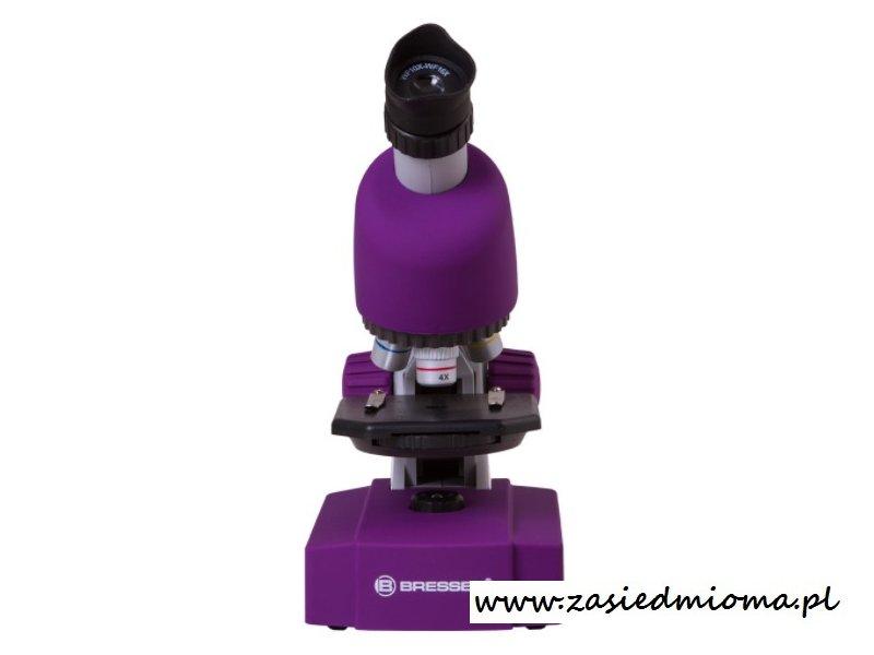 Mikroskop bresser junior 40x 640x purpurowy wyposażenie