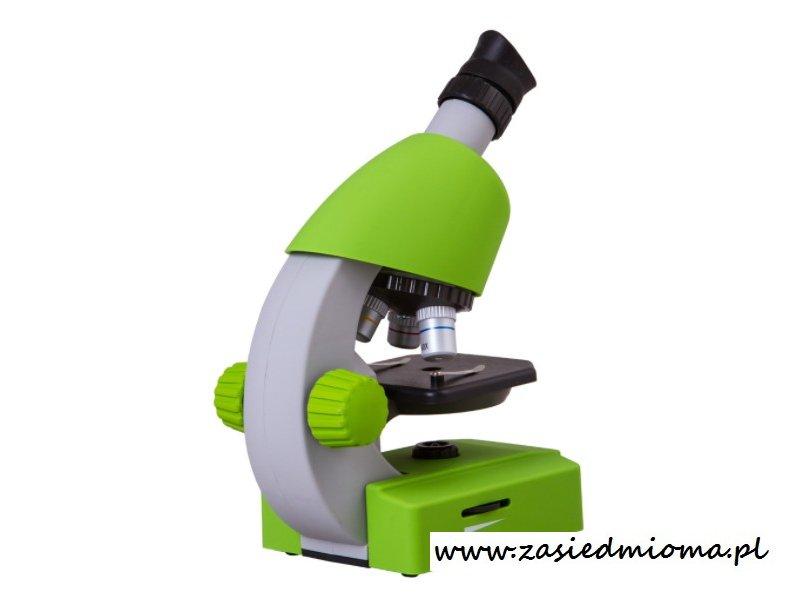 Mikroskop bresser junior zielony wyposażenie